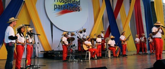 La música del Cauca en tarima.  Crédito Miltón Ramírez/MinCultura2012