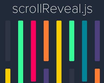 scrollReveal.js – Declarative On-Scroll Reveal Animations  #javascript #scroll #animation #reveal #js