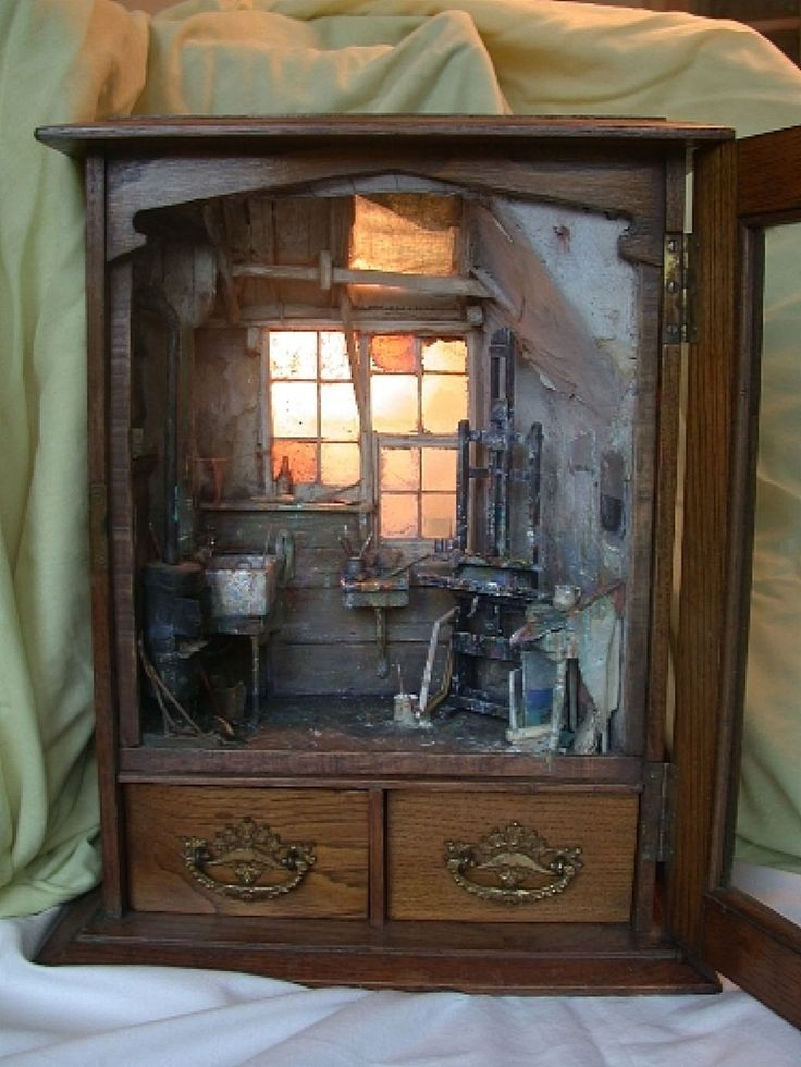 119 best images about miniature room boxes on pinterest. Black Bedroom Furniture Sets. Home Design Ideas