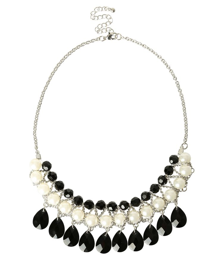 Ricki's: faceted bead & pearl statement — Visit Ricki's at Windsor Crossing: http://www.windsorcrossing.com/stores/rickis