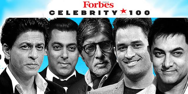 Forbes India Celebrity 100 And Surprise Winners of 2016!