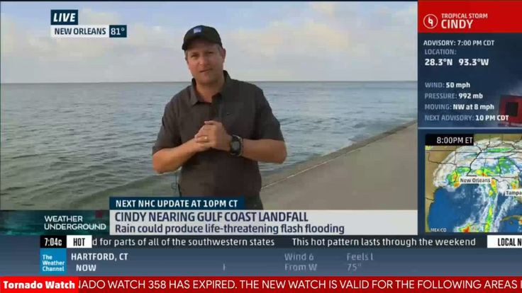 nice Weather Forecast -  Tropical Storm Cindy Coverage (Archive from 6/20/2017) - #Canadian #Weather #Videos
