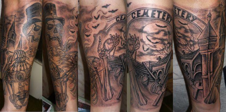 17 Best ideas about Graveyard Tattoo on Pinterest | Grim ... | 736 x 367 jpeg 60kB