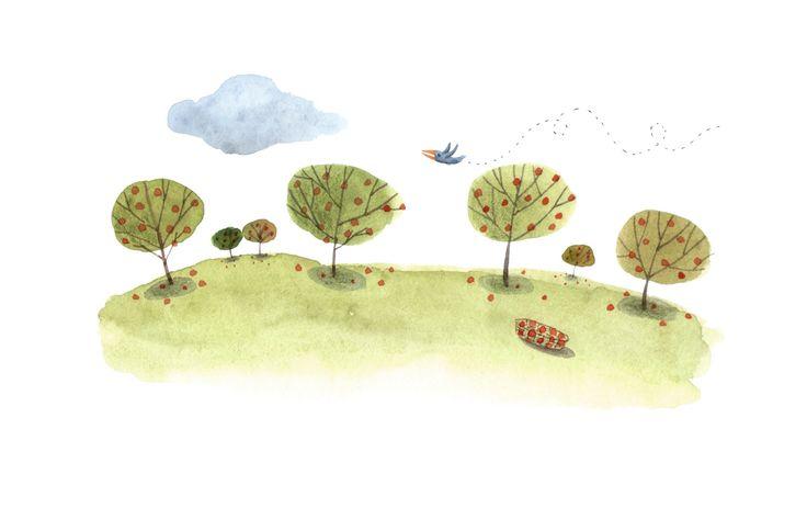 Watercolor on paper · Illustration for a book · Acuarela sobre papel · Ilustración para un libro www.cayagutierrez.com