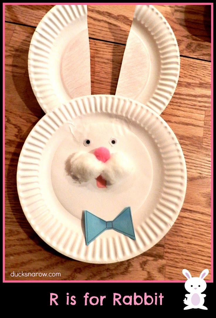 Paper Plate Bunny Rabbit Craft