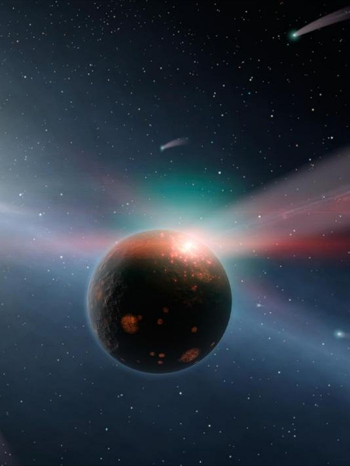 Late Heavy Bomardment. Migration of giant gas planets such as Jupiter created the biggest meteor storm in our solar system's history, according to a new study. The research in the journal 'Nature Geoscience' paints the clearest picture yet of the causes of the Late Heavy Bombardment, a cosmic tempest 3.9 billion years ago, which shaped the solar system we have today.