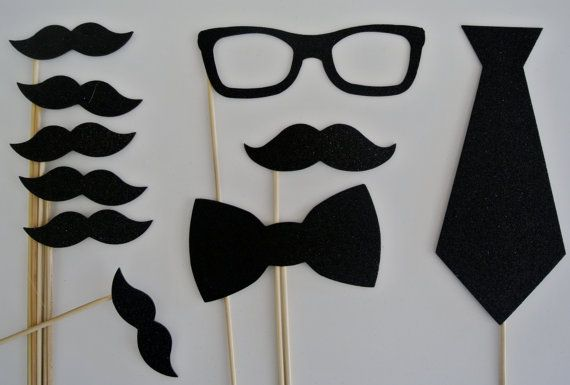Wedding  Photo Booth  Party Props weddings birthdays 10 Mustache on a stick on Etsy, $12.99