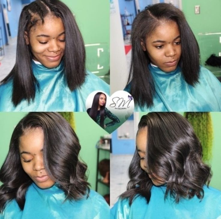 Love this natural looking u part wig via @blackhairinfo