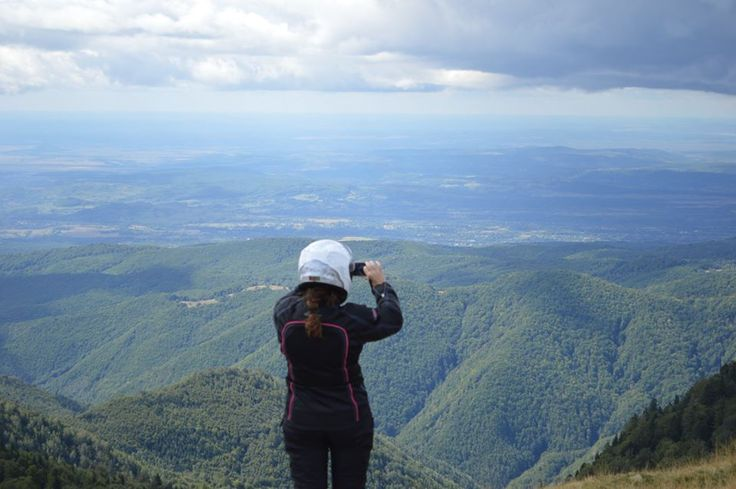 how can you not take that picture? On Top of the World in Transylvania.