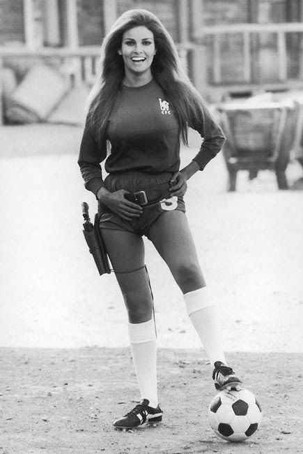 Raquel Welch In Chelsea Kit, the best kit I think this started me off following Chelsea.