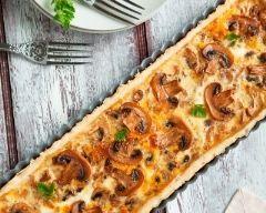 Tarte aux champignons facile (rapide) - Une recette CuisineAZ