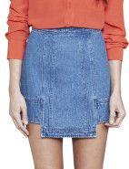 Cameo Battle Born Skirt $94.95 #davidjones #fashion #style #shop #sale #skirt #cameo #denim #designer #love