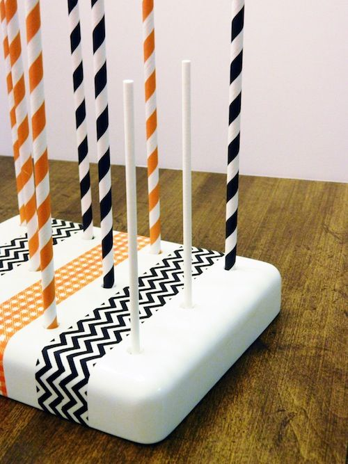 how to make a cake pop stand out of styrofoam