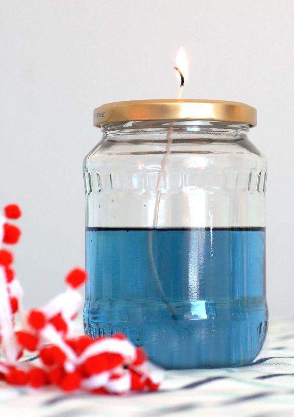 DIY: colorful oil lamps