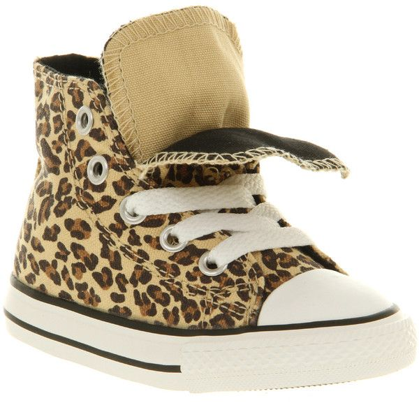 Converse Double tongue hi infant leopard (585 ZAR) ❤ liked on Polyvore featuring baby, kids, shoes, baby clothes and baby shoes