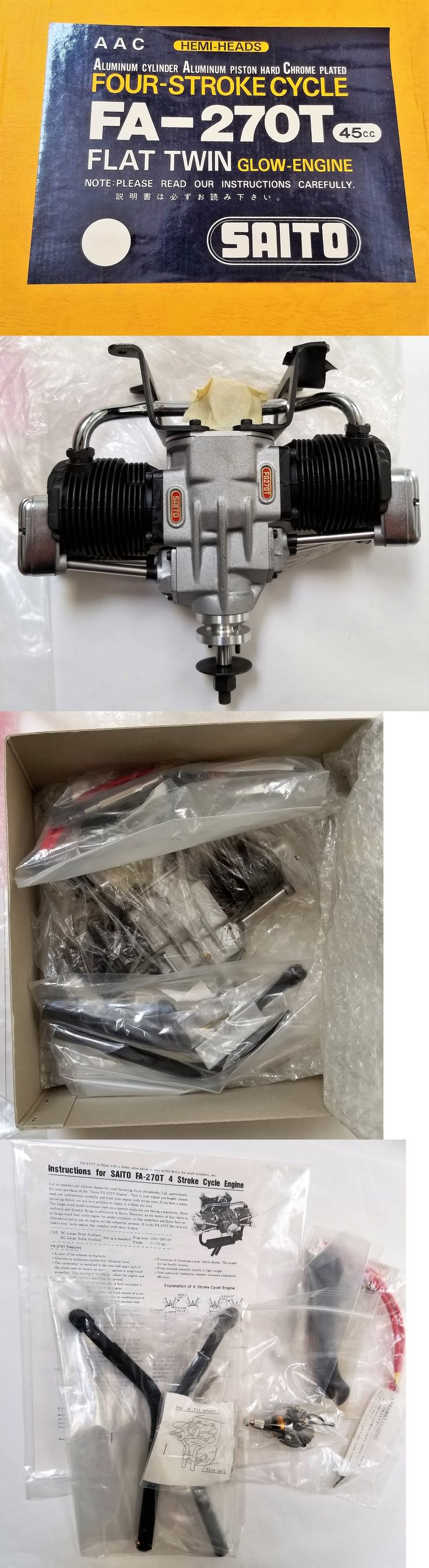 Motor and Engine Parts and Accs 182193: **New** Saito Fa-270T 4-Stroke Engine For Rc Model Airplane Nitro Fuel Engine ~ -> BUY IT NOW ONLY: $550 on eBay!