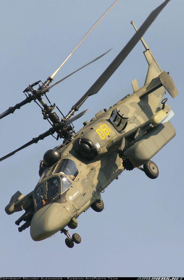 """Russian Kamov Ka-52 Alligator """"Hookum"""" attack helicopter."""