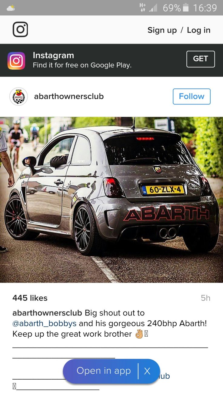 Cool 240 bhp abarth