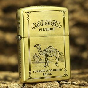 Etching Brass Armor 5 Side Camel Zippo Limited Edition