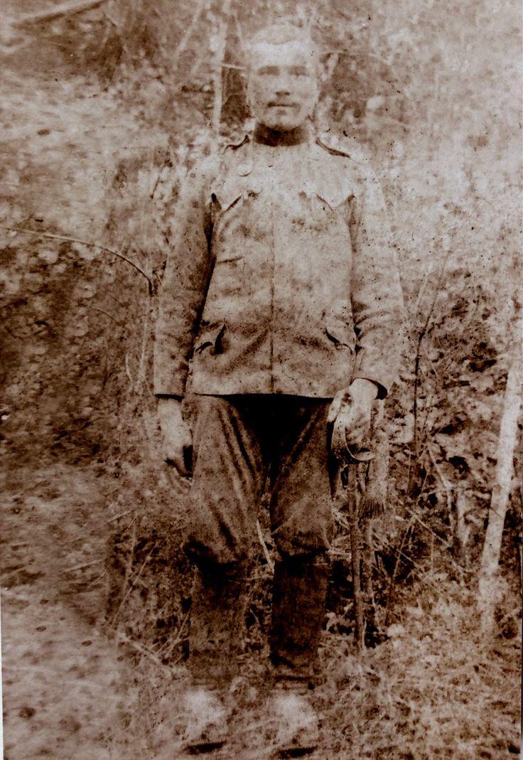 Andrzej Rajs - żołnierz I wojny światowej, rok ok. 1916. Zdjęcia użyczył Władysław Rajs.