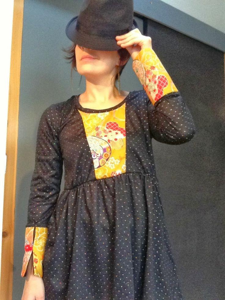 pois dorés:tissu japonais