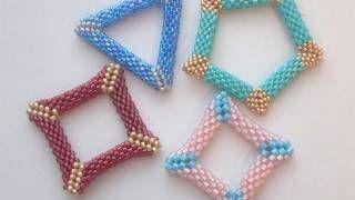 Tutorial perline (Peyote): Come fare quadrato o triangolo bucati con perline 1/2 | Tutorial Perline, via YouTube.