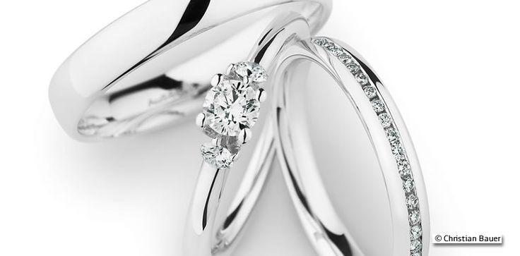 Was ist eigentlich ein Triset? Die Antwort gibt's auf www.brautmagazin.de #Triset #Ehering #Trauringe #Eheringe #Weddingbands #Gold #Platin