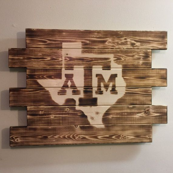 TEXAS A&M UNIVERSITY wood sign by MonogramedMemories on Etsy