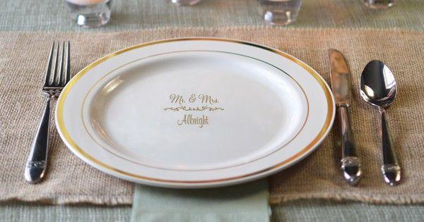 Personalized wedding reception decorations