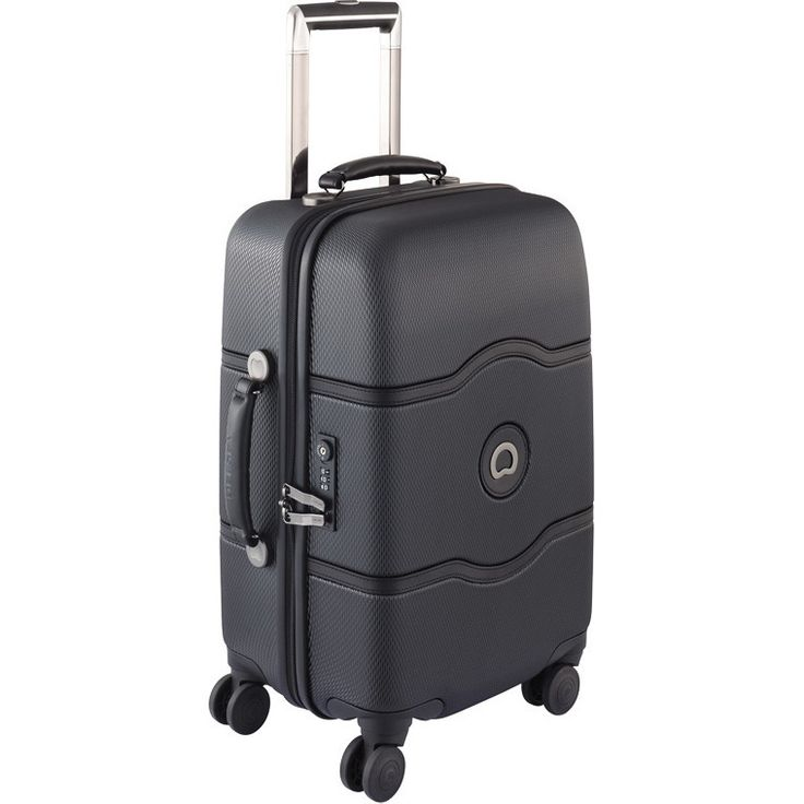 Delsey Chatelet Plus Carry On Suitcase in Black | Buy Carry On Suitcases