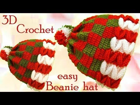 Crochet 3D Christmas Beanie Hat – Yarnandhooks