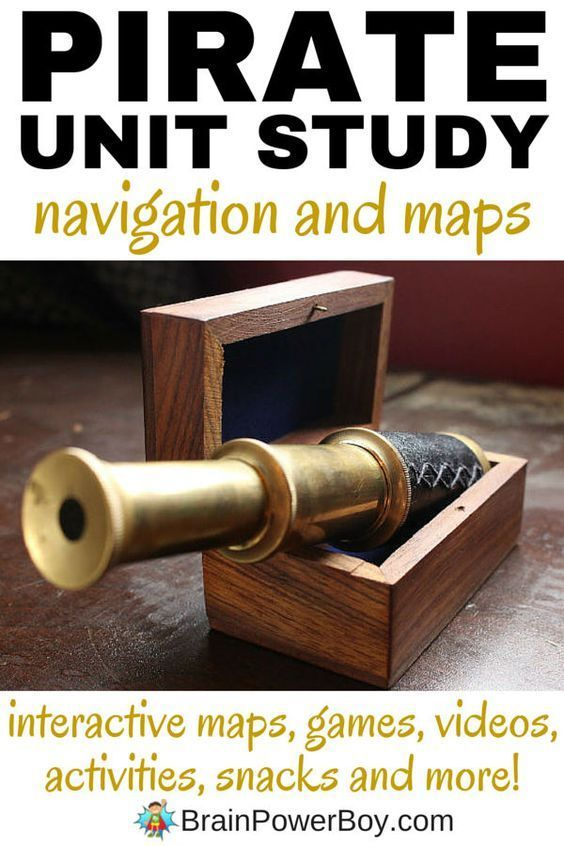 Pirate Navigation and Maps. Part of a pirate homeschool unit study. You will find interactive maps, online games, activities to do, videos, snacks and more all for learning about how pirates used maps and navigated.