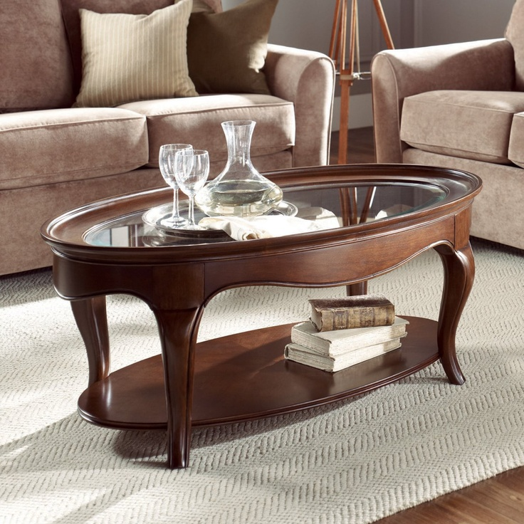 American Drew Cherry Grove The New Generation Oval Coffee Table    Traditional   Coffee Tables   Hayneedle