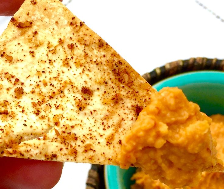 Pita Chips - Vegan. Here's a quick, simple recipe for pita chips. These guys are baked with no added oil and you can season them however you like, even cinnamon sugar if you're feeling crazy! I provide a recipe for a good spice mixture that isn't too hot and works well on pita's or tortillas.