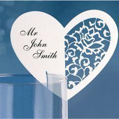 Marque place mariage en carton Coeur