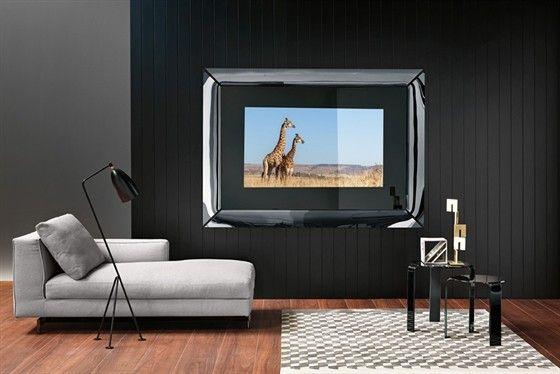 Fiam Caadre Tv glass mirror