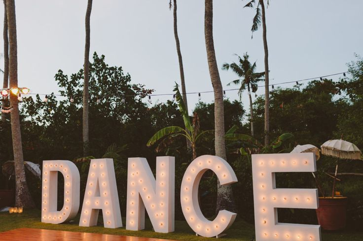 dance floor giant letters