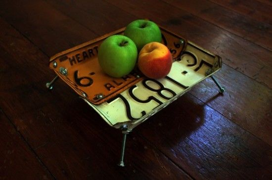 20 Items Made From Recycled Materials (1 of 20) Vintage License Plate