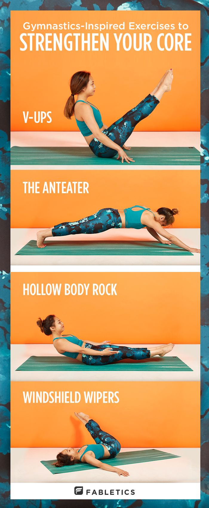 Work your core with these gymnastics-inspired workouts!                                                                                                                                                                                 More