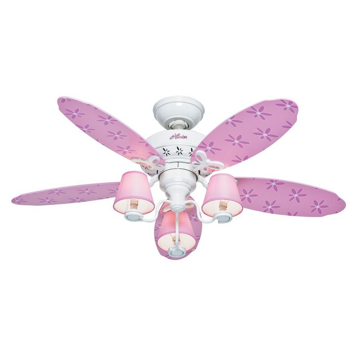 Hunter 44-in Dreamland Pink and White Indoor Kids Ceiling Fan | Lowe's Canada