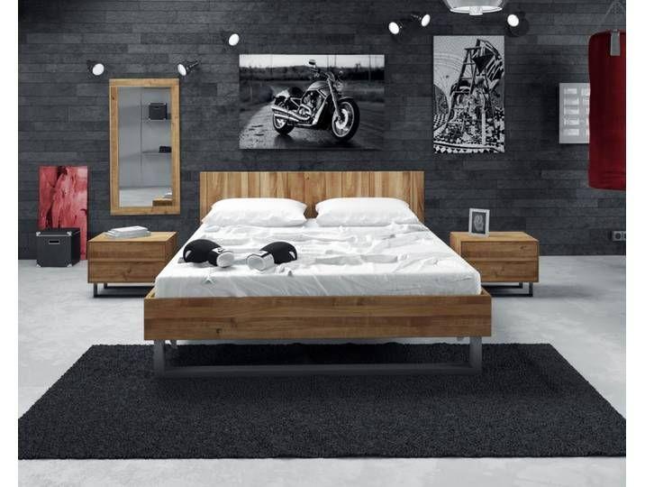 The Beds Steel Massivholz Bett 2201 160x200 Cm Kernbuche
