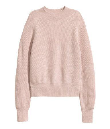 Cashmere Sweater | Powder pink melange | Ladies | H&M US