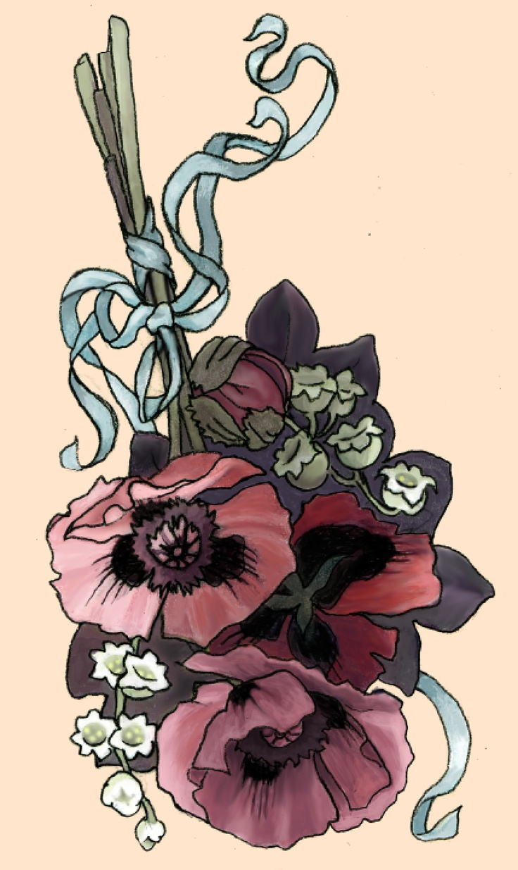 finished poppy and lily of the valley tattoo design by cristie henry poppy tattoo pinterest. Black Bedroom Furniture Sets. Home Design Ideas