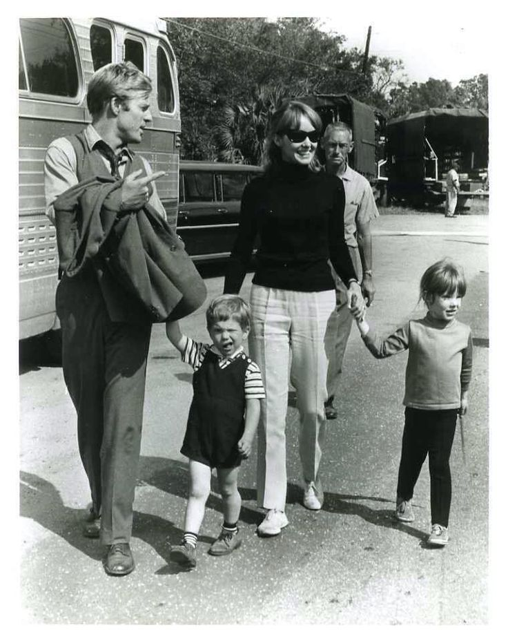 "rainorsundance: "" Robert Redford and his family on the set of This Property is Condemned (1966) """