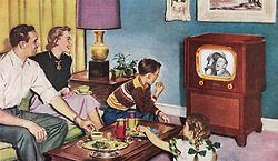 Wednesday night with the Wilkersons - detail from 1951 Motorola ad.
