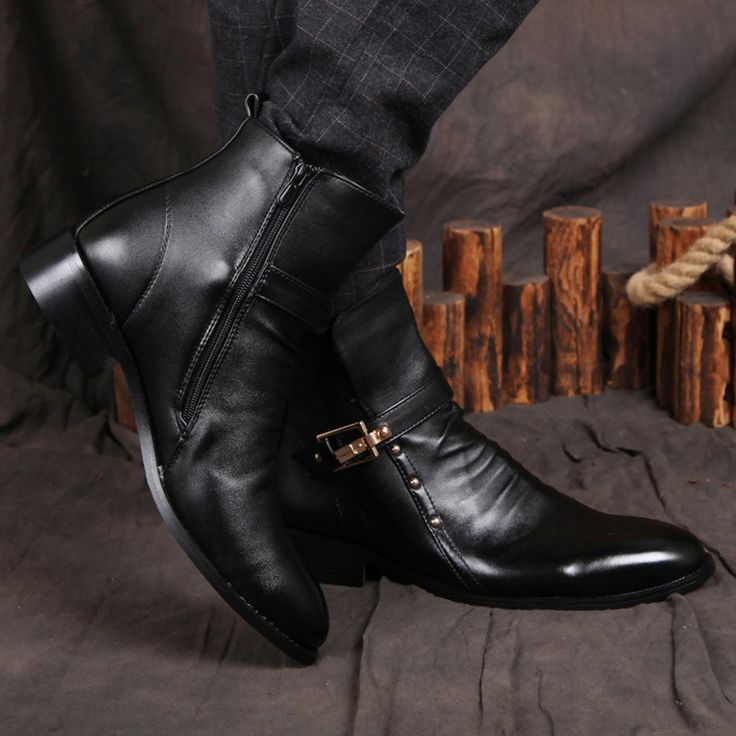 Fashion-Men-Boots-Soft-Leather-Ankle-Boots-Point-Toe-Autumn-Men ...