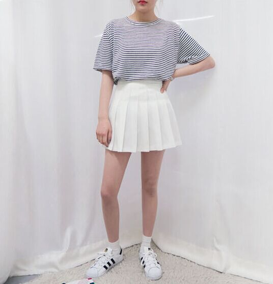 FSJ Stylenanda Macarons Candy Color Pleated Shorts Skirts Women's Year-round American Apparel Tennis Ball Sport Casual Falda