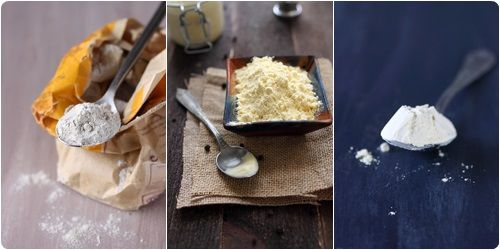 § LA FARINE DE COCO §  On utilise cette farine toujours en complément d'une autre farine (riz).Parfum un peu désagréable mais saveur très agréable dans une pâte à crêpes, des muffins ou une brioche. Sans gluten, elle permet de réduire l'indice glycémique des ingrédients qui lui sont associés. C'est un bon compagnon pour aider à la perte de poids. Cependant ce produit est très onéreux.