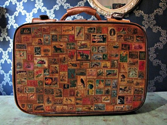 Vintage Stamped Suitcase=How Lovely!
