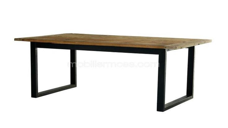 Noldy - Table de salle à manger industrielle rétro au design vintage ! Ou encore celle ci!